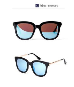 c945a65c41 Sunglasses Women Men Luxury Brand Big Black Sun Glasses Mirror Shades