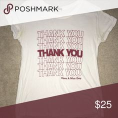 Thank you Margie tee The Chinese take out bag print on a tee Brandy Melville Tops Tees - Short Sleeve