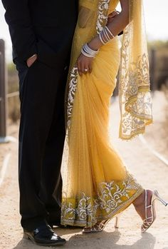 Yellow #saree #sari #blouse #indian #outfit  #shaadi #bridal #fashion #style #desi #designer #wedding #gorgeous #beautiful