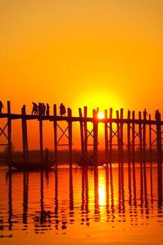 U Bain Bridge in Mandalay  Read more at https://www.visitmm.com/mandalay/