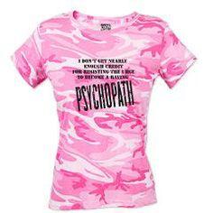 Psychopath T-Shirt> Psychopath> The Crafty Wench