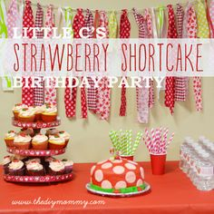 water bottle and treat bag tags Strawberry Shortcake Birthday Party by The DIY Mommy