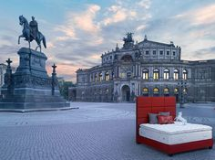 Treca Interiors Paris bed in the streets of Dresden, Germany