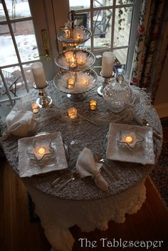 Chilly Winter tablescape