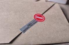 invitation suite, wrapped in butcher paper :)