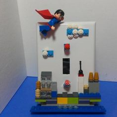 Superman Switchplate by BrickShtick for $36.00