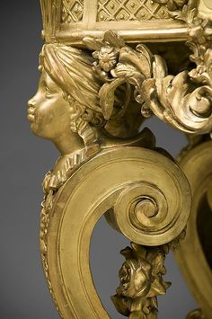 18th C. German Rococo Gilded Hand Carved Console Table With Marble Top from piatik on Ruby Lane
