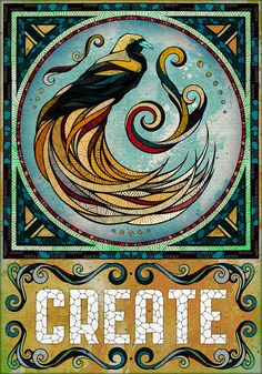 """""""Create"""" from the ALIVE project. BY: Andreas Preis Illustration - Artist · Berlin, Germany Doodles Zentangles, Art And Illustration, Animal Illustrations, Word Art, Art Couple, Graffiti, Animal Spirit Guides, Power Animal, Poster Series"""