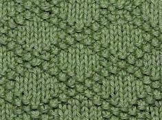 Rhombus (Diamond) knits and purls - KnitHit.com