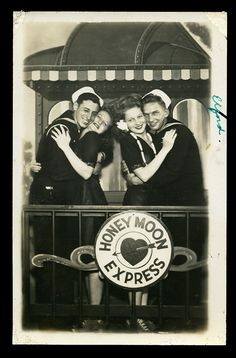 World War 2 Sailors Smiling With Beautiful Men Handsome Masculine Military Navy Caboose by Christian Montone, Vintage Pictures, Old Pictures, Old Photos, Vintage Images, Military Couples, Military Love, Vintage Romance, Vintage Love, Vintage Nautical