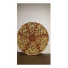 Vintage Hand Woven Coil Wall Basket,Woven Coil Bowl Basket, Boho, Boho Wall Basket, Woven Star Design Basket, Large,13.75 Diameter,Teal,Rust by JunkYardBlonde on Etsy