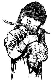 Картинка с тегом «skull, art, and goat»