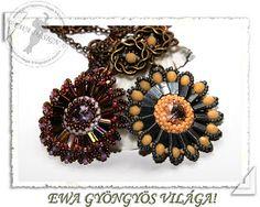 Ewa gyöngyös világa!: Fianna medál minta / Fianna pendant pattern