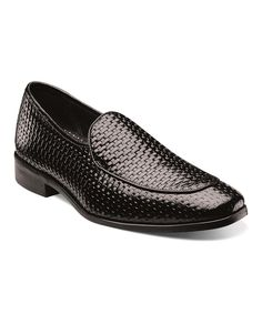 Another great find on #zulily! Stacy Adams Black Santoro Leather Venetian Loafer by Stacy Adams #zulilyfinds