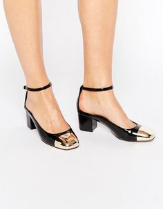 Snag these ankle strap baby heels to add a little panache to any outfit.