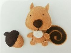 Felt Squirrel · How To Make A Squirrel Plushie · Needlework on Cut ...