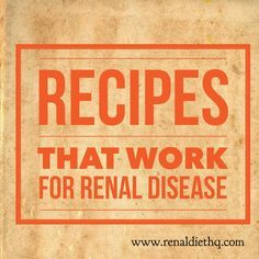Putting together meal plans and recipes for a kidney safe diet does not have to be difficult. In fact, there are plenty of enjoyable recipes that work for renal disease. These recipes make putting together kidney safe meals easy. Renal Diet Menu, Dialysis Diet, Kidney Dialysis, Kidney Disease Diet, Kidney Friendly Diet, Low Potassium Recipes, Kidney Recipes, Kidney Foods, Healthy Kidneys