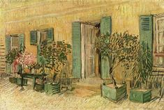 Exterior of a Restaurant at Asnieres, 1887, Vincent van Gogh    Medium: oil on canvas