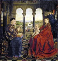 The transmission and mutation of a landscape, originating in a painting by Jan Van Eyck.