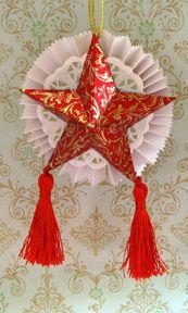 Filipino parol ornament craft