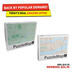#50deals Day 50 - 8th July. New York or London – find your way around town with these puzzle maps!