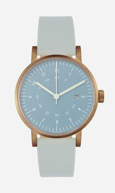 Blue V03D-COGYNY by Void. True to its core, the Void V03 series use high quality materials like stainless steel and premium leather with attention to details. It features a round case with a top ring construction and thin mineral crystal, all giving the watch a light and elegant expression. http://zocko.it/LDCBg
