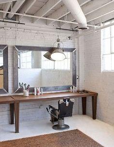 Loft Studio of Rob Brinson & Jill Sharp Brinson 4 Interior… Interior Design Dubai, Interior Design Pictures, Interior Design Software, Interior Design Magazine, Design Interiors, Barber Shop Interior, Barber Shop Decor, Beauty Salon Interior, Estudio Makeup