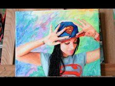 Painting Superwoman