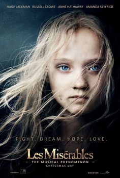 New LES MISERABLES Movie Poster Features Young Cosette in an Iconic Theatrical Pose | The Daily BLAM!