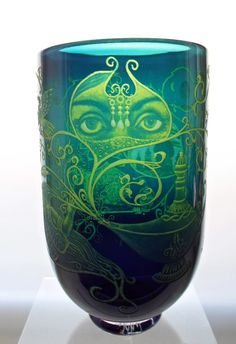 British Latest Collection Of Vintage Dartington Cranberry Art Glass Optical Vase Agreeable To Taste