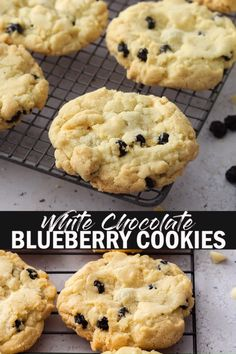 Looking for White Chocolate Blueberry Cookies with a perfect, crispy edge and chewy centre, then you've found them. These easy to make cookies are incredibly buttery as well and ready in less than half an hour! Blueberry Cookies, Blueberry Recipes, Blueberry Chocolate, Cranberry Recipes, Cookie Desserts, Cookie Recipes, Dessert Recipes, Pumpkin Recipes, Biscuits