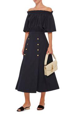 Dakota Off The Shoulder Midi Dress by Saloni   Moda Operandi