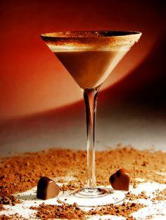 Rich Dark Chocolate Martini