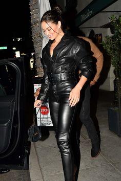 Leather Pants Outfit, Leather Jumpsuit, Leather Dresses, Leather Jacket, Lederhosen Outfit, Shanina Shaik, Leder Outfits, Leather Fashion, Models