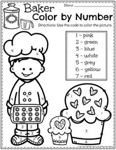 Preschool Coloring by Number Pages - Cupcakes Col Preschool Name Crafts, Halloween Theme Preschool, Preschool Journals, Halloween Activities, Preschool Activities, Thanksgiving Activities, Preschool Coloring Pages, Kindergarten Worksheets, Kindergarten Classroom