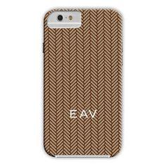 Herringbone Brown iPhone Hard Case