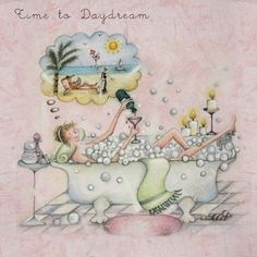 Time to Daydream , Ladies Who Love Life ... Berni Parker funny cute art