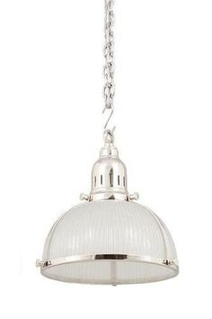 Hampton style silver single kitchen pendant ( via Hamptons Style)