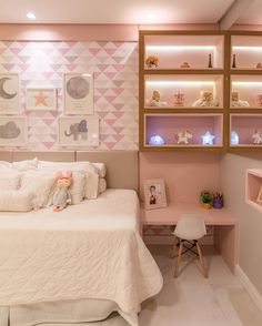 38 Cute and Girly Bedroom Decorating Tips for Teenagers - Page 10 of 38 - VimDecor Pink Bedroom Design, Girl Bedroom Designs, Modern Bedroom Design, Modern Room, Girls Bedroom, Feminine Bedroom, Trendy Bedroom, Cozy Bedroom, Study Table Designs