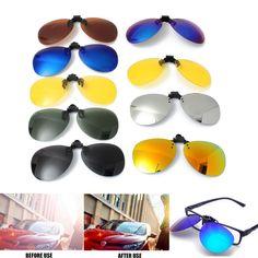 Unisex Copri lenti clip da sole Polaroid UV400 per occhiali da vista Sunglasses #SenzaMarcaGenerico