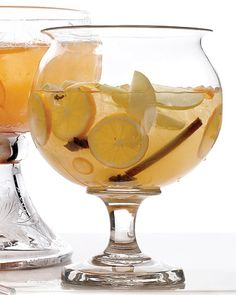 Mulled white-wine sangria.