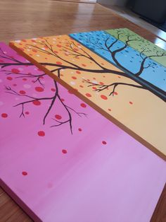 Four seasons painting #ombre
