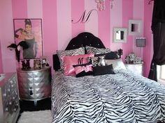 Cute and Feminine Girls Bedroom Design Ideas 2012 Feminine White . Feminine White and Pink Fashion and Happify Pink Bedroom Design Ide. Girls Bedroom, Teenage Girl Bedrooms, Girl Bedroom Designs, Modern Bedroom Design, Bedroom Decor, Bedroom Ideas, Girl Rooms, Glam Bedroom, Diva Bedroom