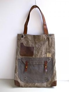 era Canvas Tote Bag by Ranposki era Swedish military canvas has been  reworked into a perfect everyday holdall tote bag with leather strap e1babc6554345