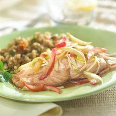 Apple-Balsamic Salmon Recipe - Diabetic Gourmet Magazine - Diabetic Recipes