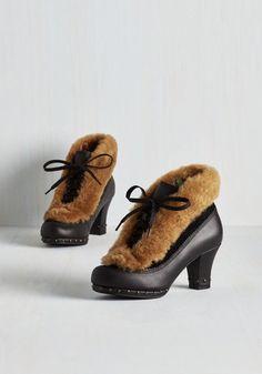 Grand Garland Bootie in Noir | Mod Retro Vintage Boots | ModCloth.com