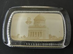 Antique Real Photo Glass Paperweight Of Grants by marketsquareus