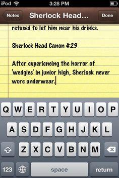 Sherlock Head Canon #23