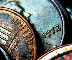 Coins - macro photography