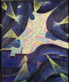 Luigi Russolo - Linee forza della folgore, 1912 - Collezione Comune di Portogruaro
